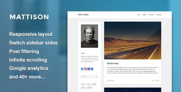 Mattison — Content Focus Tumblr Theme