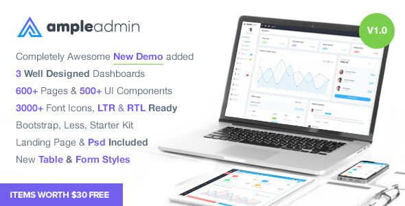 Ample Admin — Ultimate Dashboard Template