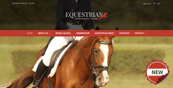 Equestrian v4.3 — Horses & Stables WordPress Theme
