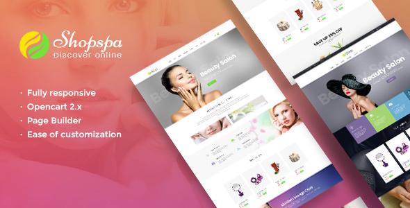 Pav Shopspa — Responsive Opencart theme for Spa & Beauty Salon