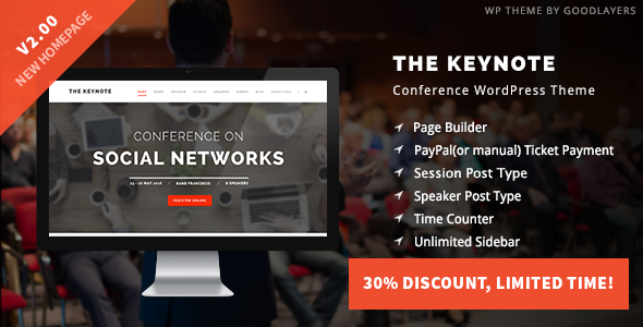 The Keynote v2.01 — Conference / Event / Meeting Theme