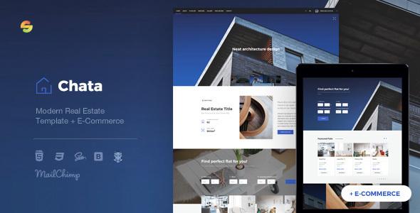 Chata — Modern Real Estate / Architecture Template + E-Commerce
