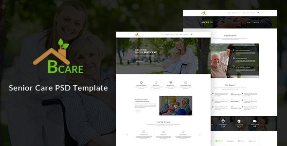 Bcare — Senior Care PSD Template