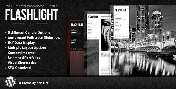 Flashlight 4.3 — Themeforest fullscreen background portfolio