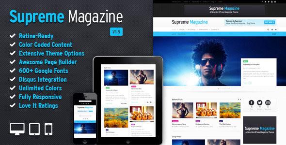 Supreme v1.6.1 — Retina Responsive Magazine/Blog WP Theme