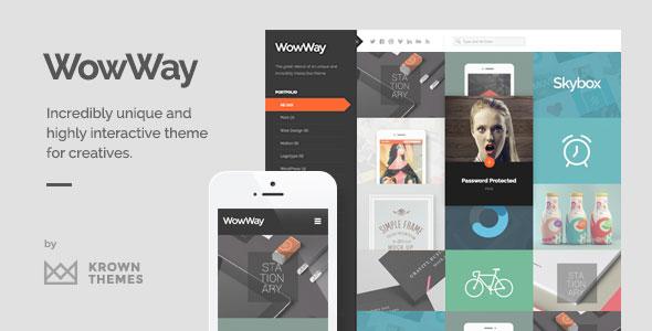 WowWay v2.1.3 — Interactive & Responsive Portfolio Theme