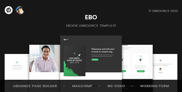 Ebo — Ebook Unbounce Template