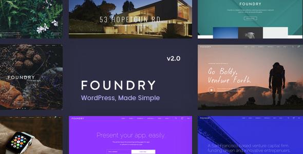 Foundry v2.0.10 — Multipurpose, Multi-Concept WP Theme
