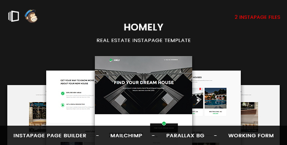 Homely — Real Estate Instapage Template