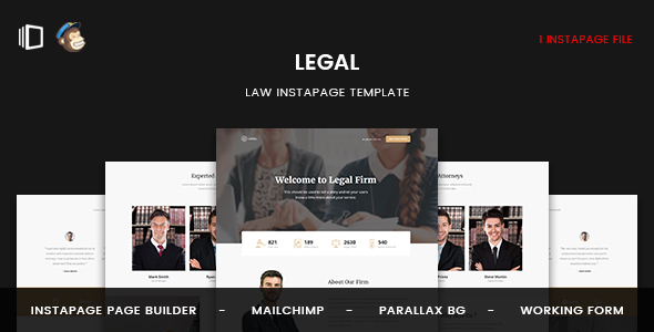 Legal — Law Instapage Template