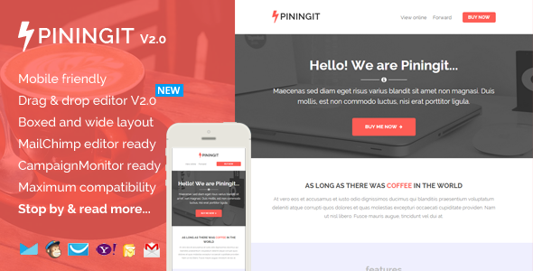 Piningit v2.0 — Responsive Email with Template Builder