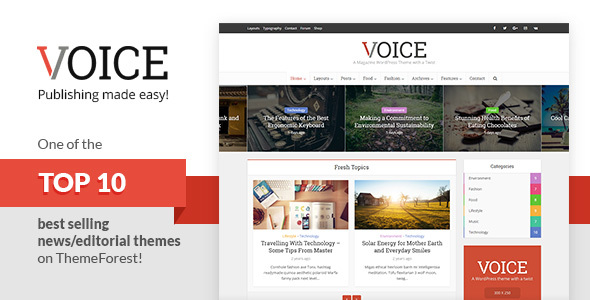 Voice v2.5 — Clean News/Magazine WordPress Theme
