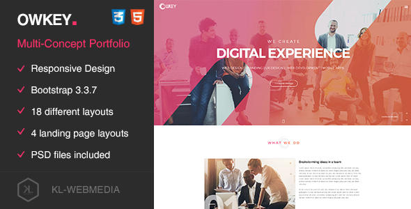 Owkey — Multi-Concept HTML5 template