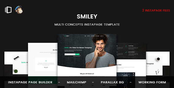 Smiley — Multi Concepts Instapage Template