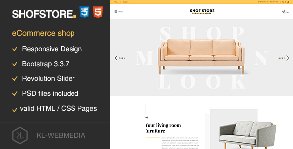 Shofstore v1.0.1 — eCommerce HTML5 template