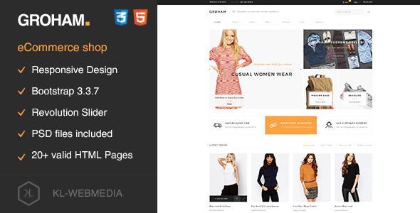 Groham — Fashion eCommerce HTML template