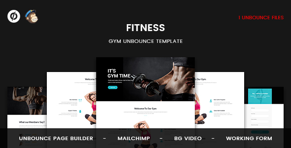 Fitness — GYM Unbounce Template