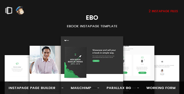 Ebo — Ebook Instapage Template