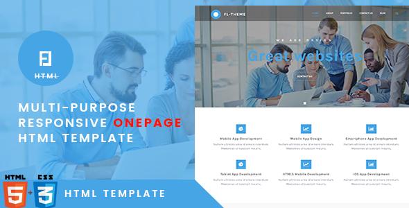 Fl — Multi-Purpose Responsive OnePage HTML Template