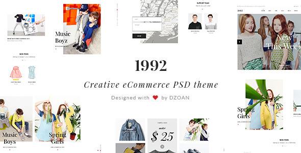 1992 — Creative eCommerce PSD Theme