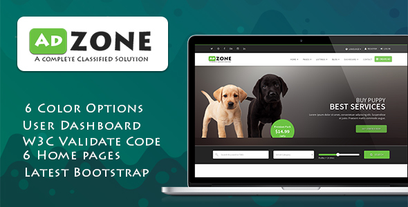 AdZone — A Complete Classified Solution HTML Template + RTL