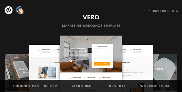 Vero — Marketing Unbounce Template