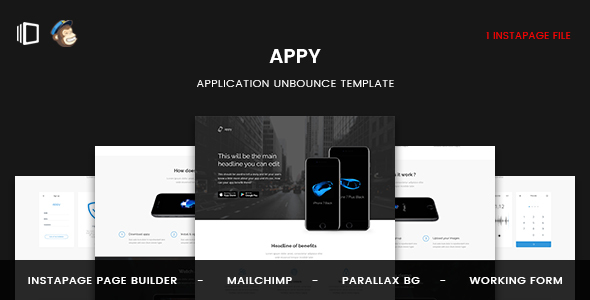 Appy — Application Instapage Template