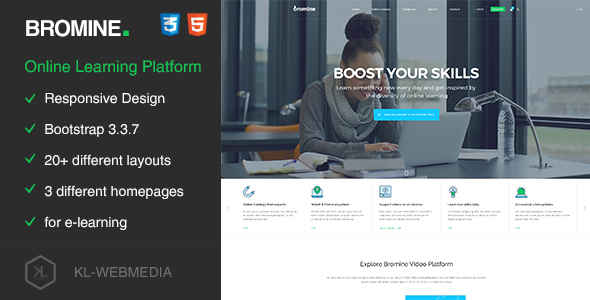 Bromine — Online Learning Platform HTML5 Template