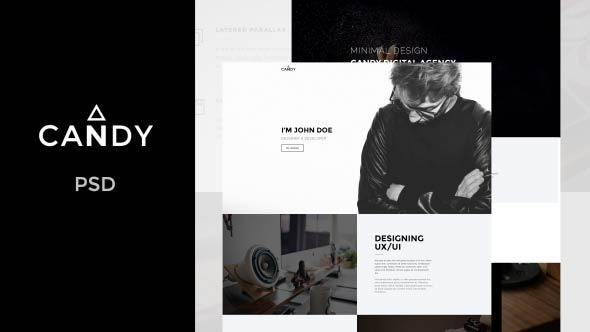 Candy — One Page PSD