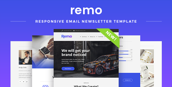 Remo — Responsive Email Newsletter Template