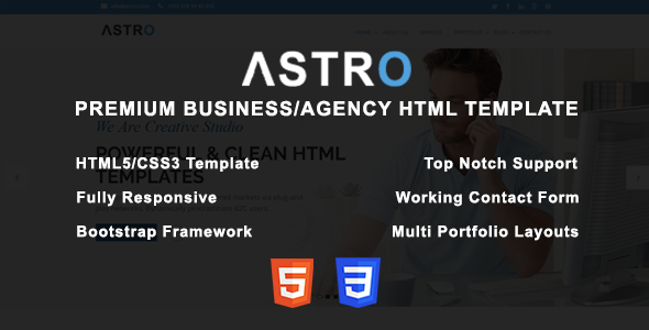 Astro — Premium Business/Agency HTML Template