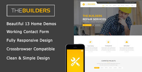 The Builders — Construction HTML Template
