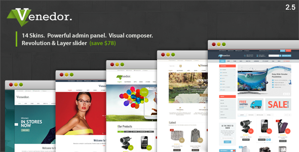 Venedor v2.5.6 — WordPress + WooCommerce Theme