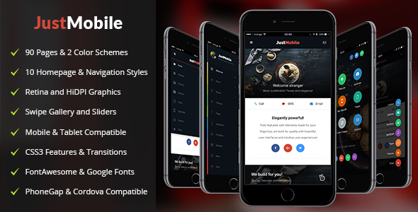 Just Mobile — Mobile Template