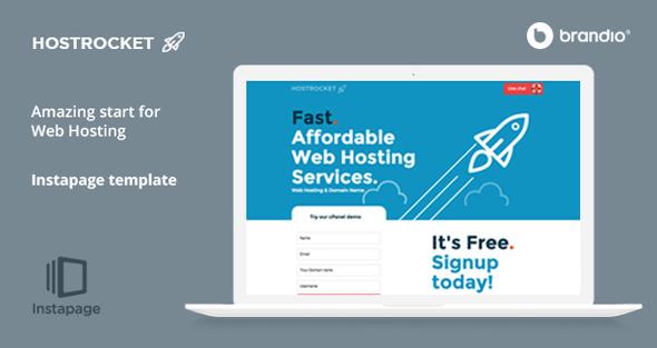 Host Rocket Instapage Template v1.2.2 — Web Hosting
