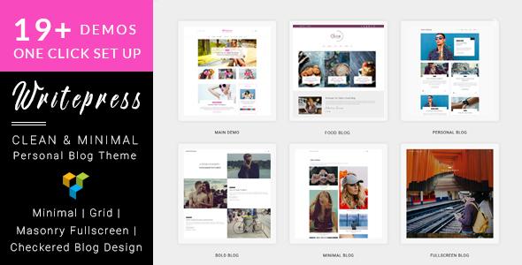 Writepress v1.0.4 Personal Blog and Magazine WordPress Theme