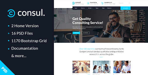 Consul — Business & Training PSD Template