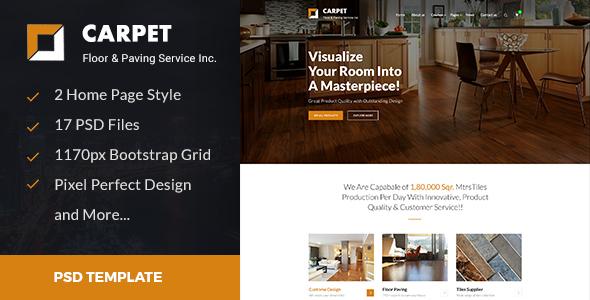 CARPET — Flooring, Paving & Tiling PSD Template