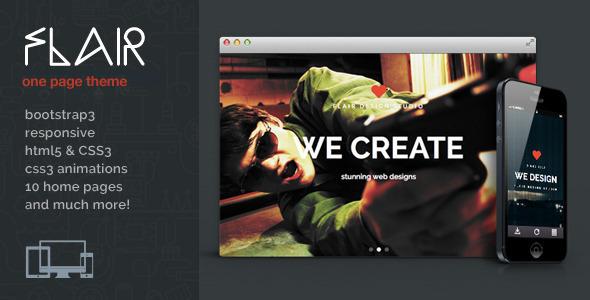 Flair v1.0.13 — One Page Responsive WordPress Theme