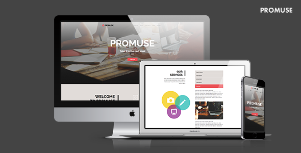 Promuse — Business Parallax Muse Template for Professionals