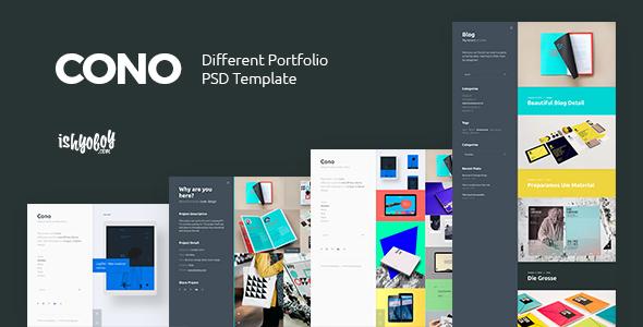 Cono — Different Portfolio PSD Template