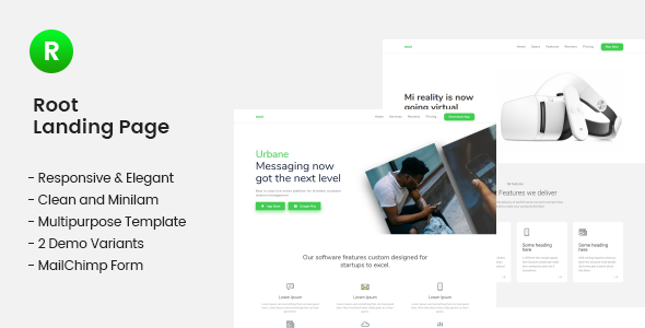 Root — Multi-use Landing Page Template