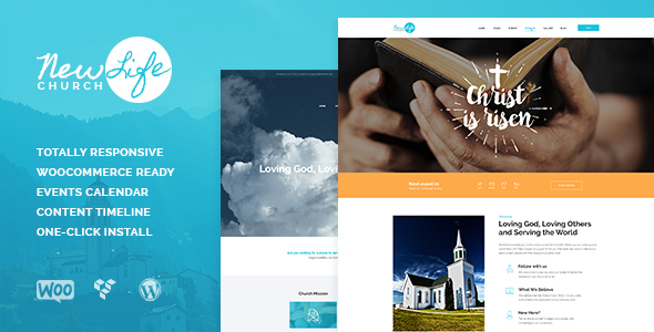 New Life v1.0.4 — Church & Religion WordPress Theme