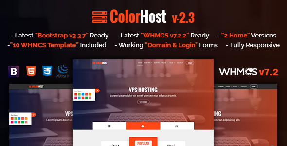 ColorHost v2.3 — Responsive HTML5 Web Hosting and WHMCS Template