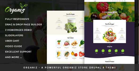 Organiz — A Powerful Organiz Store Drupal 8 Theme