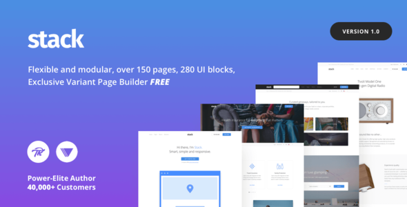 Stack v10.2.1 — Multi-Purpose Theme with Variant Page Builder