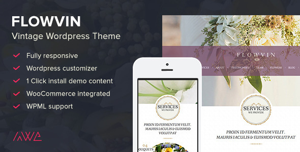 FlowVin v1.10.0 — Vintage Flower Shop WordPress Theme