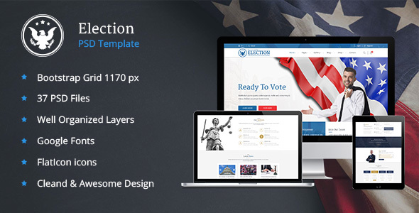 Elections — Political Law Business PSD Template