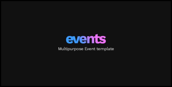 EVENTS — Multipurpose Conference Template