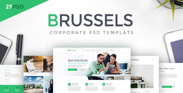Brussels — Corporate PSD Template